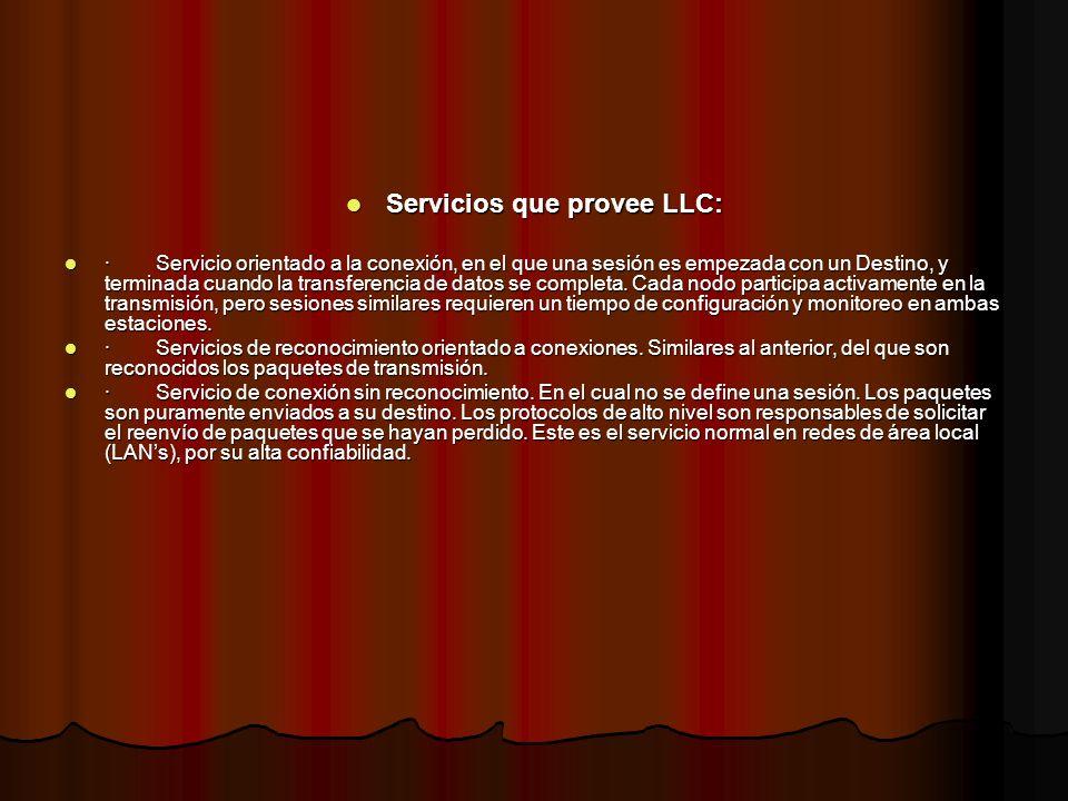 Servicios que provee LLC: