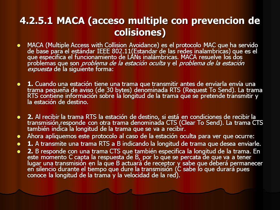 4.2.5.1 MACA (acceso multiple con prevencion de colisiones)