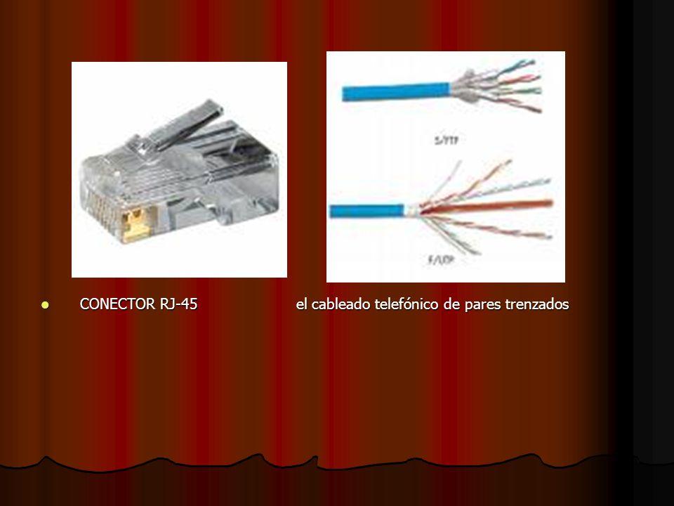 CONECTOR RJ-45 el cableado telefónico de pares trenzados