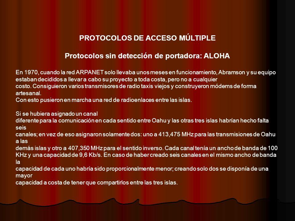 PROTOCOLOS DE ACCESO MÚLTIPLE