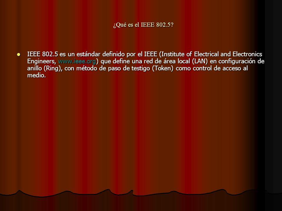 ¿Qué es el IEEE 802.5