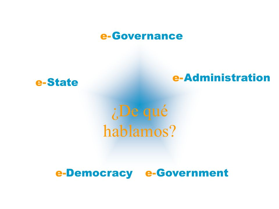 ¿De qué hablamos e- Governance Administration State Democracy