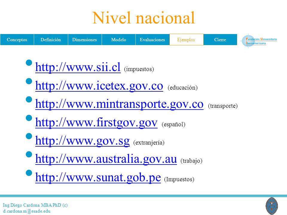 Nivel nacional http://www.sii.cl (impuestos)