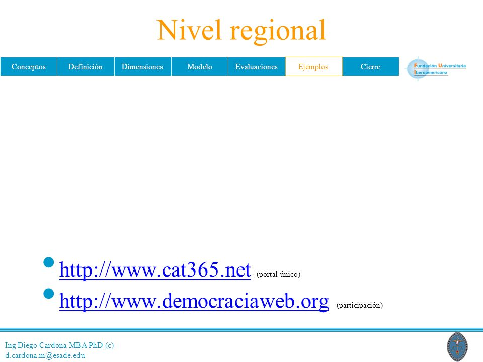 Nivel regional http://www.cat365.net (portal único)
