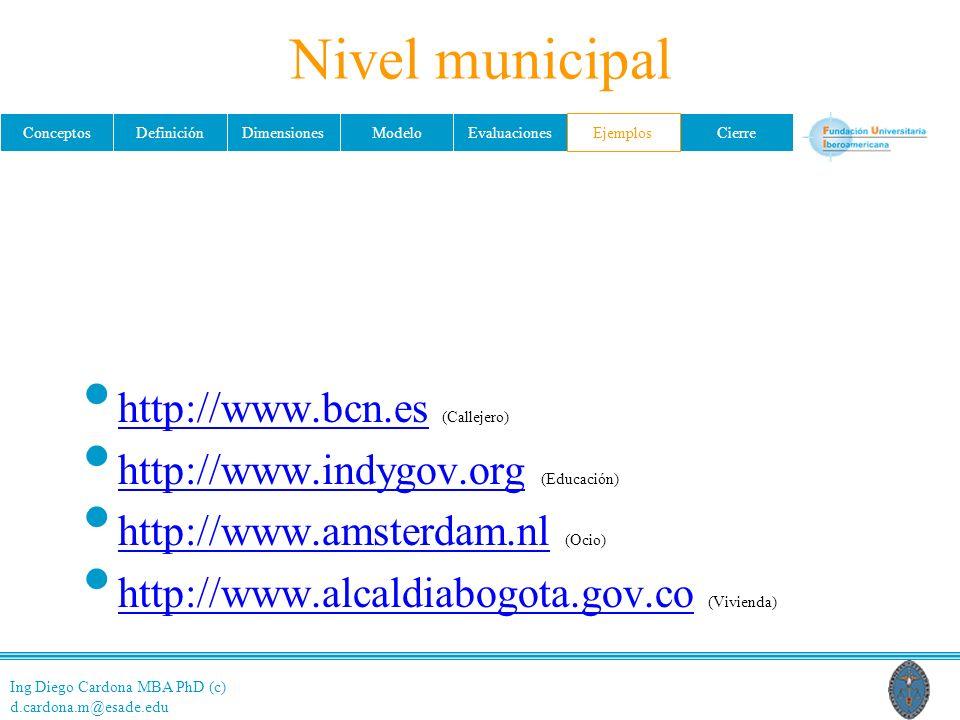 Nivel municipal http://www.bcn.es (Callejero)