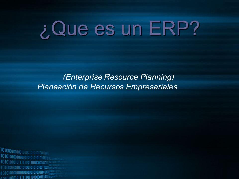 ¿Que es un ERP (Enterprise Resource Planning)