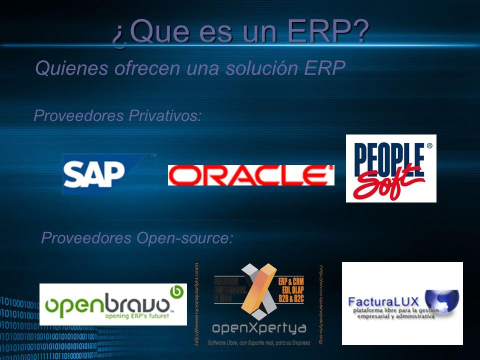 ¿Que es un ERP Quienes ofrecen una solución ERP