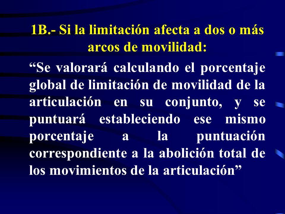 1B.- Si la limitación afecta a dos o más arcos de movilidad: