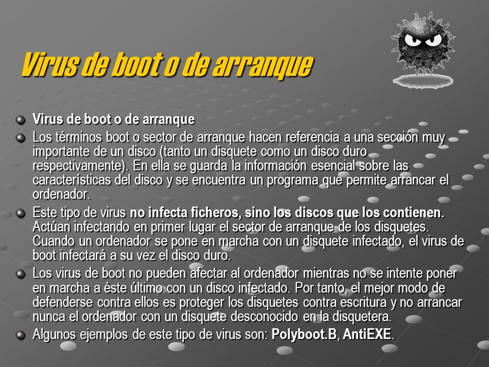 Virus de boot o de arranque