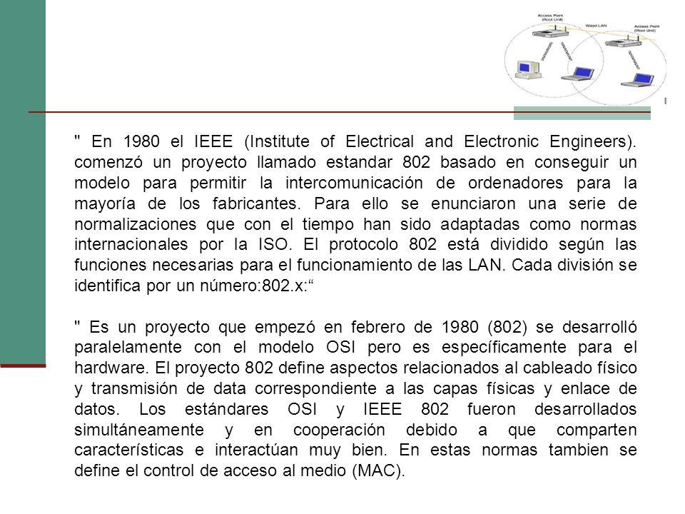 En 1980 el IEEE (Institute of Electrical and Electronic Engineers)