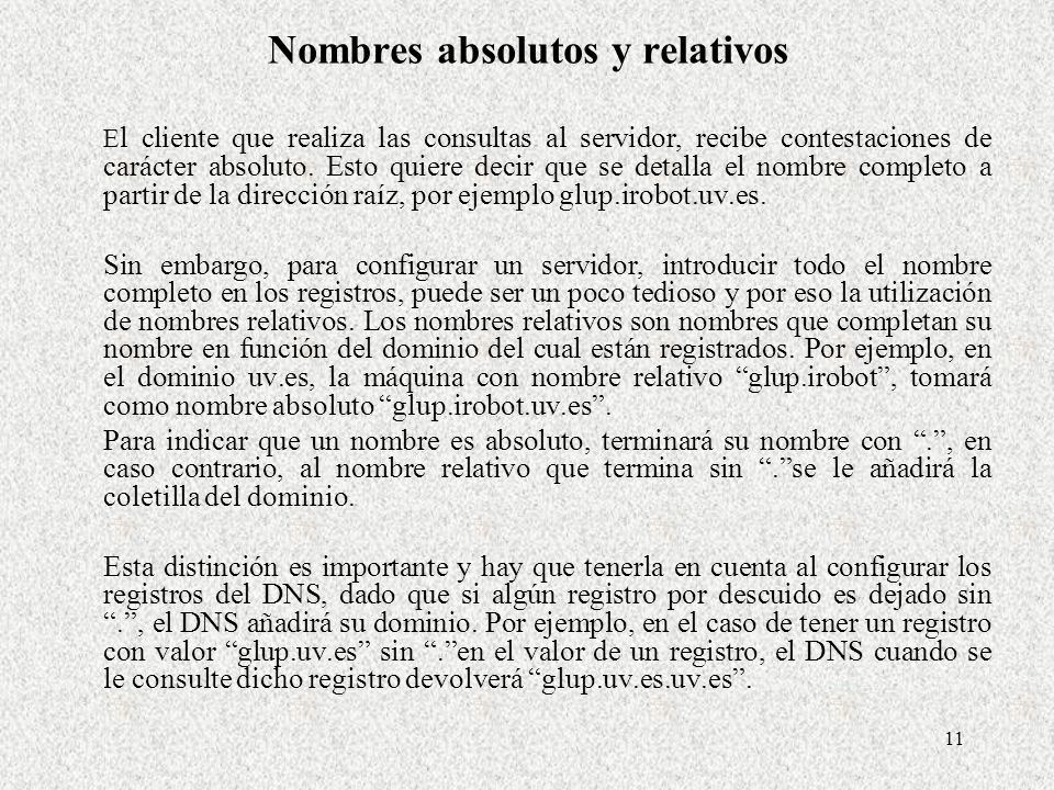 Nombres absolutos y relativos