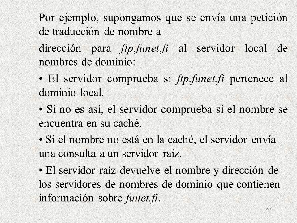 Por ejemplo, supongamos que se envía una petición de traducción de nombre a