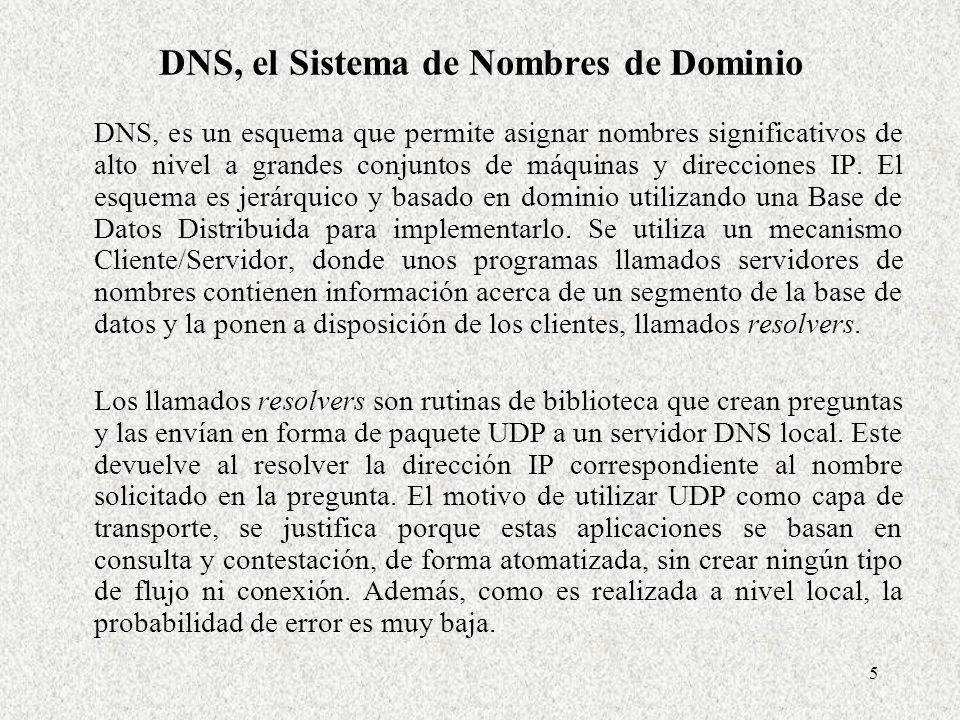 DNS, el Sistema de Nombres de Dominio