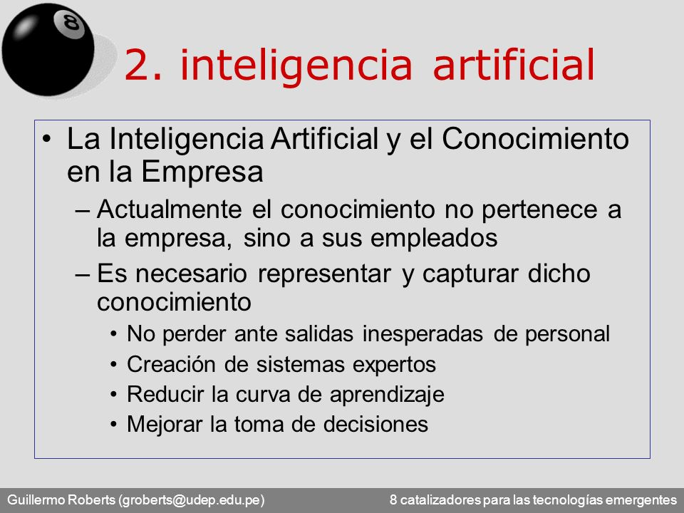 2. inteligencia artificial
