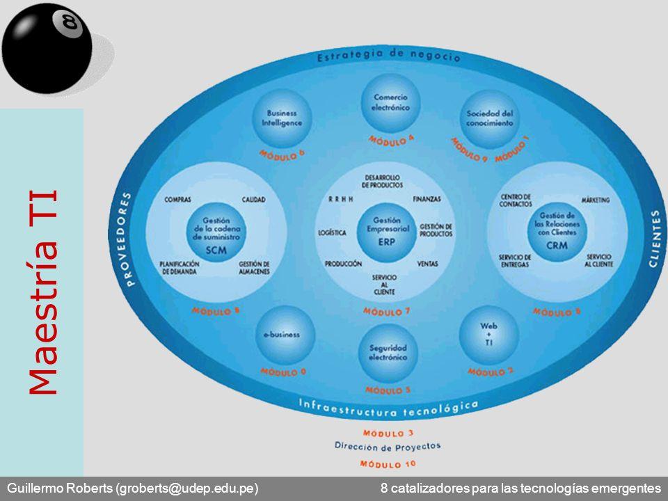 Maestría TI Guillermo Roberts (groberts@udep.edu.pe) 8 catalizadores para las tecnologías emergentes.