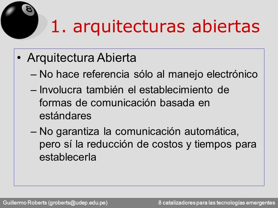 1. arquitecturas abiertas