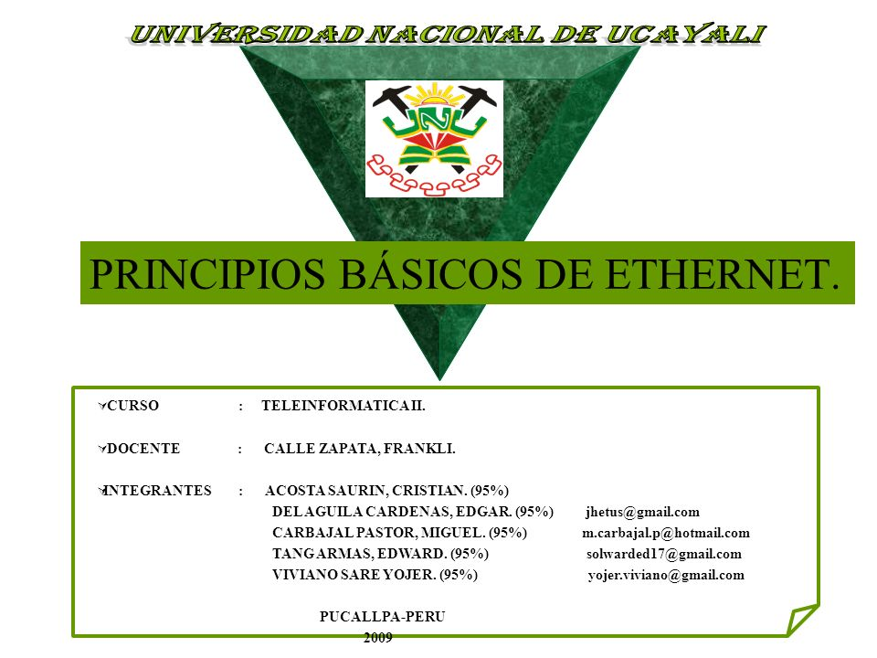 PRINCIPIOS BÁSICOS DE ETHERNET.