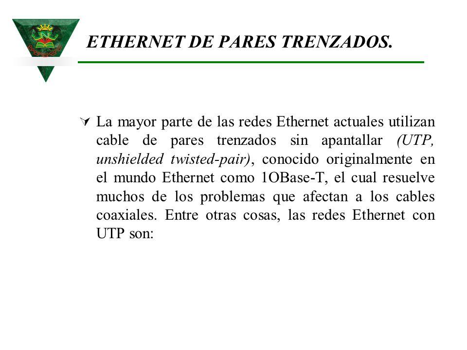 ETHERNET DE PARES TRENZADOS.