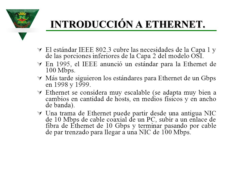 INTRODUCCIÓN A ETHERNET.
