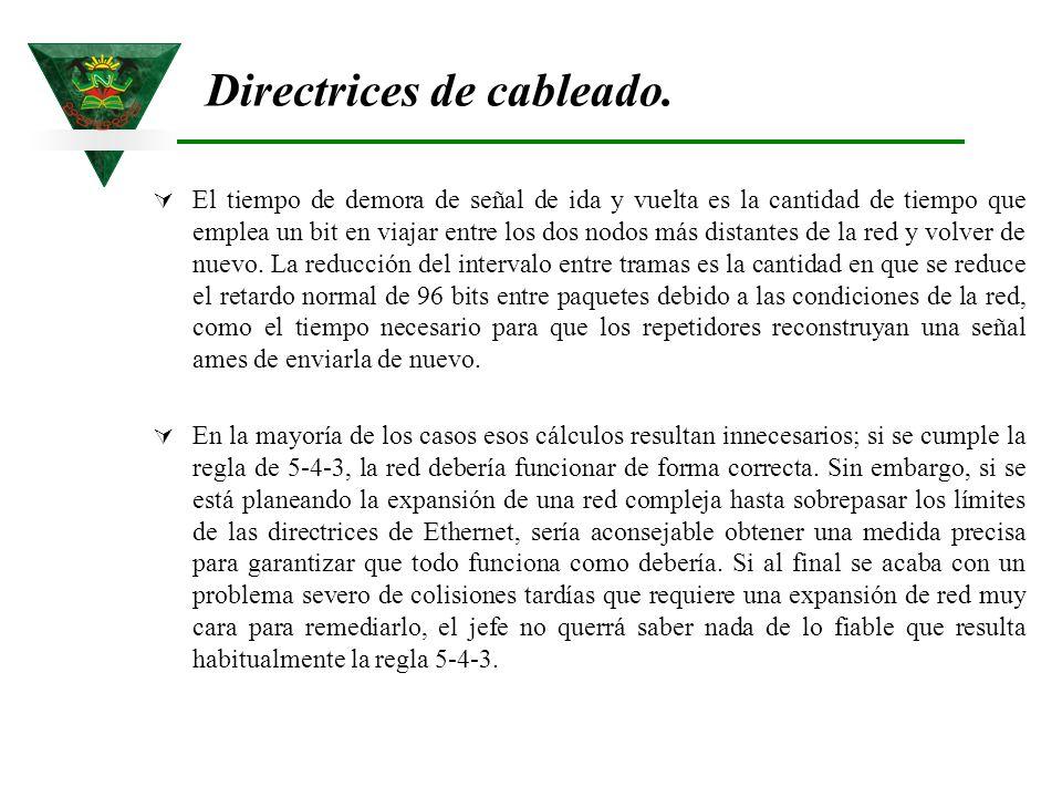 Directrices de cableado.
