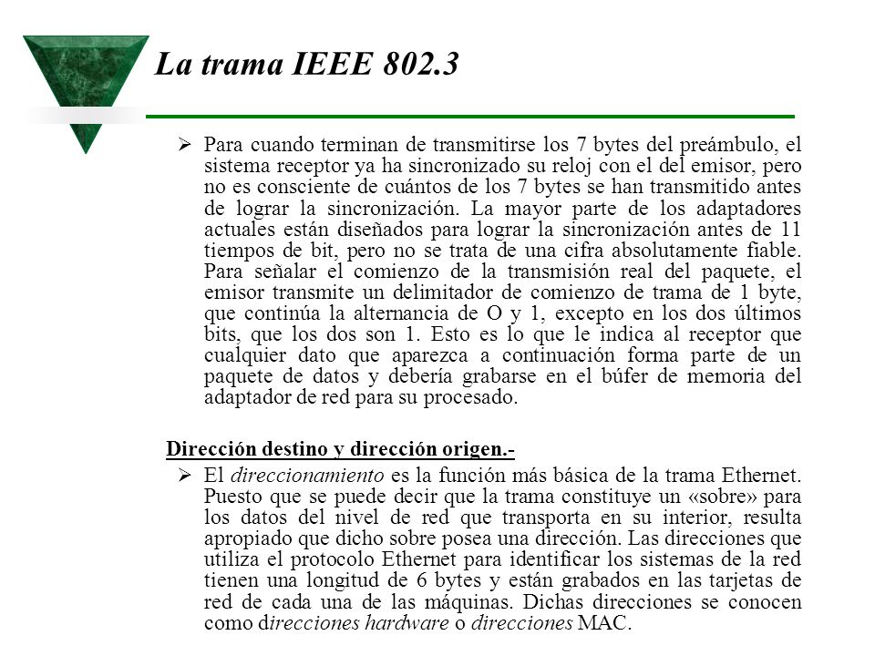 La trama IEEE 802.3