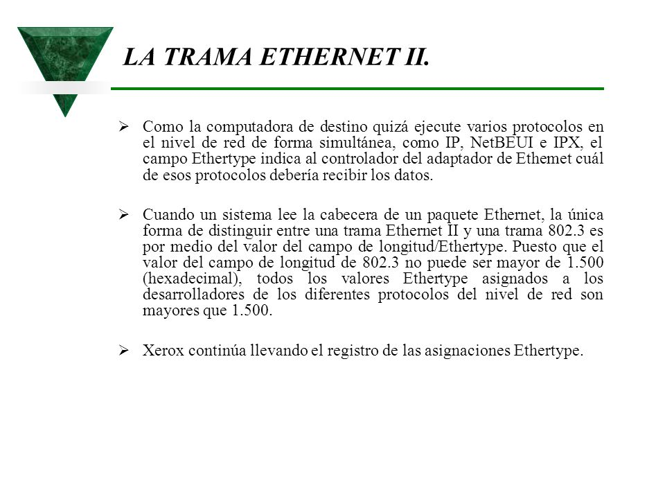 LA TRAMA ETHERNET II.