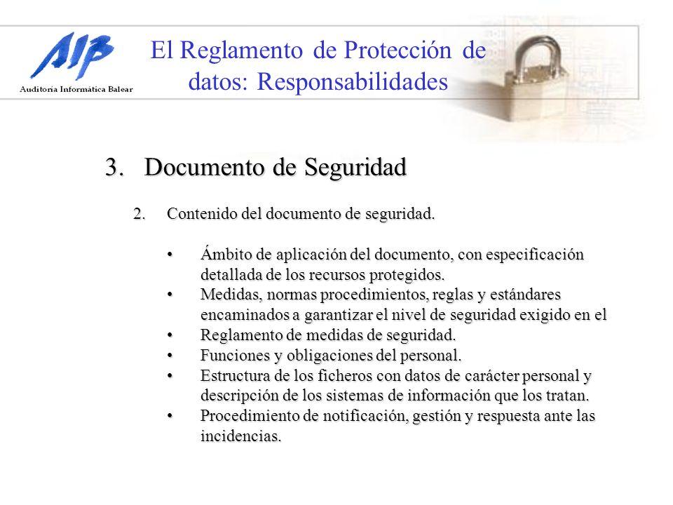 El Reglamento de Protección de datos: Responsabilidades