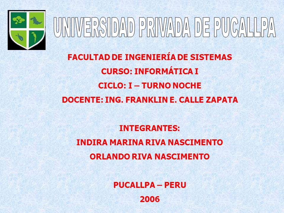 UNIVERSIDAD PRIVADA DE PUCALLPA