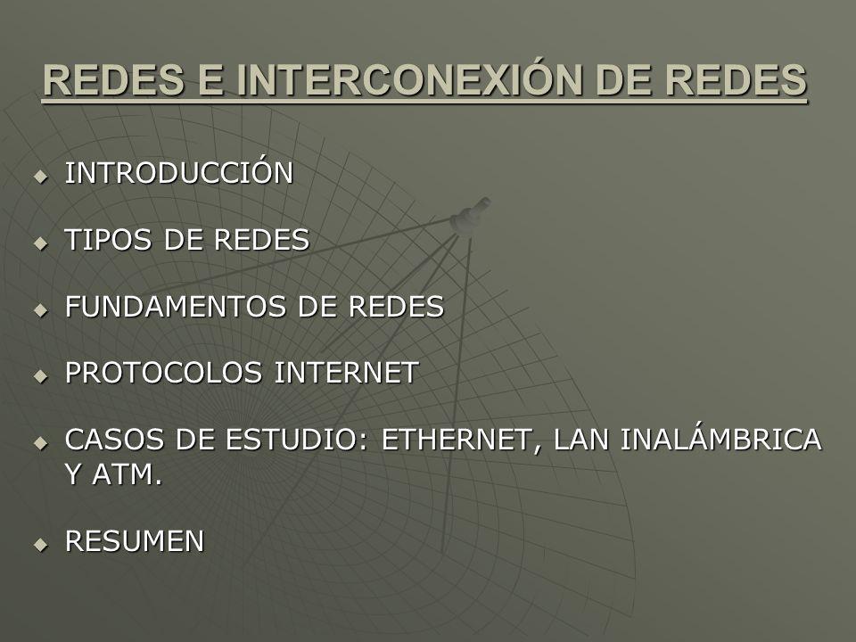 REDES E INTERCONEXIÓN DE REDES