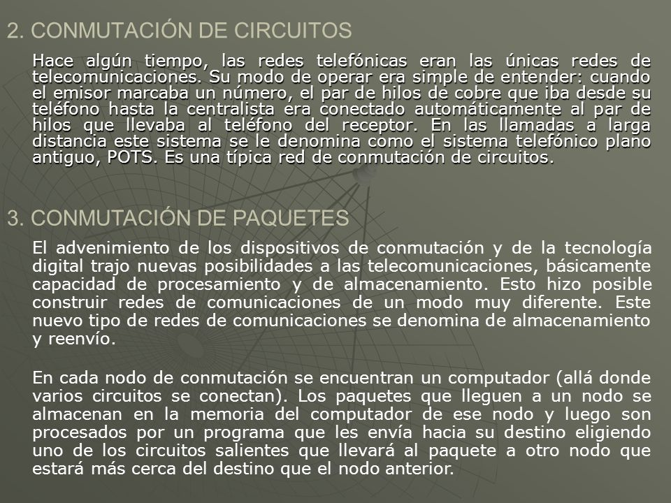 2. CONMUTACIÓN DE CIRCUITOS
