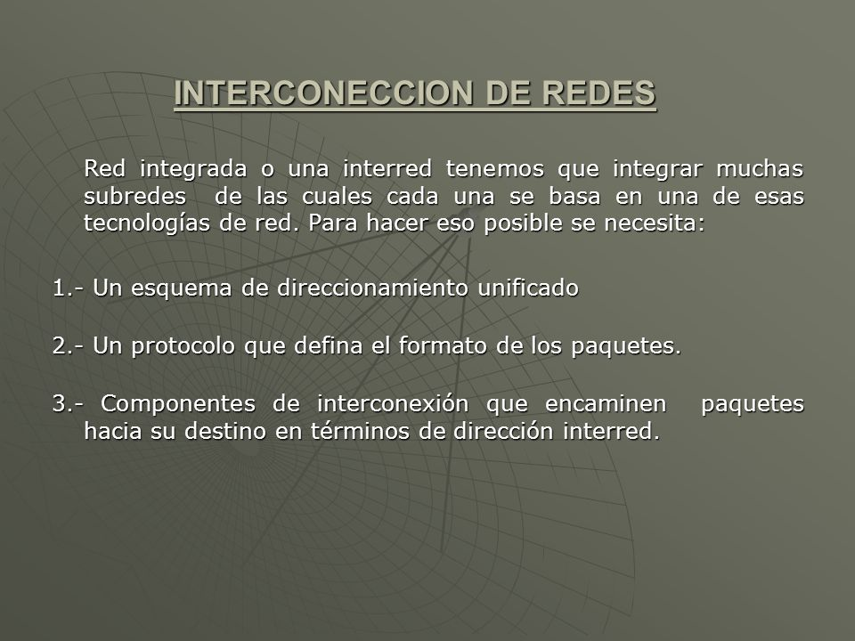 INTERCONECCION DE REDES