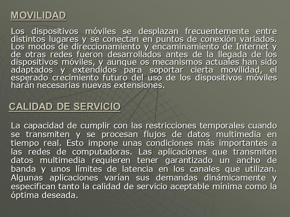 MOVILIDAD CALIDAD DE SERVICIO