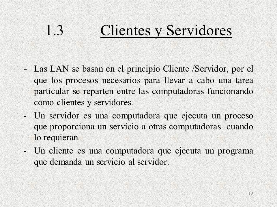 1.3 Clientes y Servidores