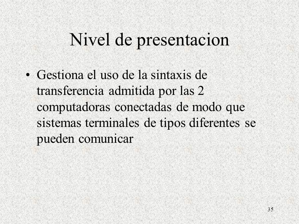 Nivel de presentacion