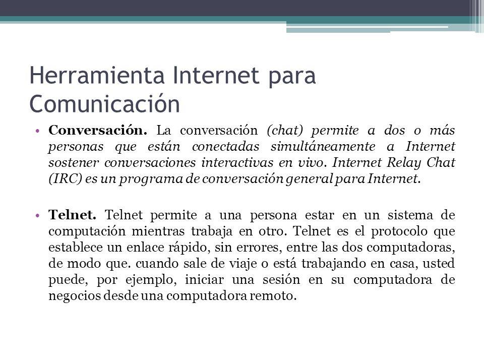 Herramienta Internet para Comunicación