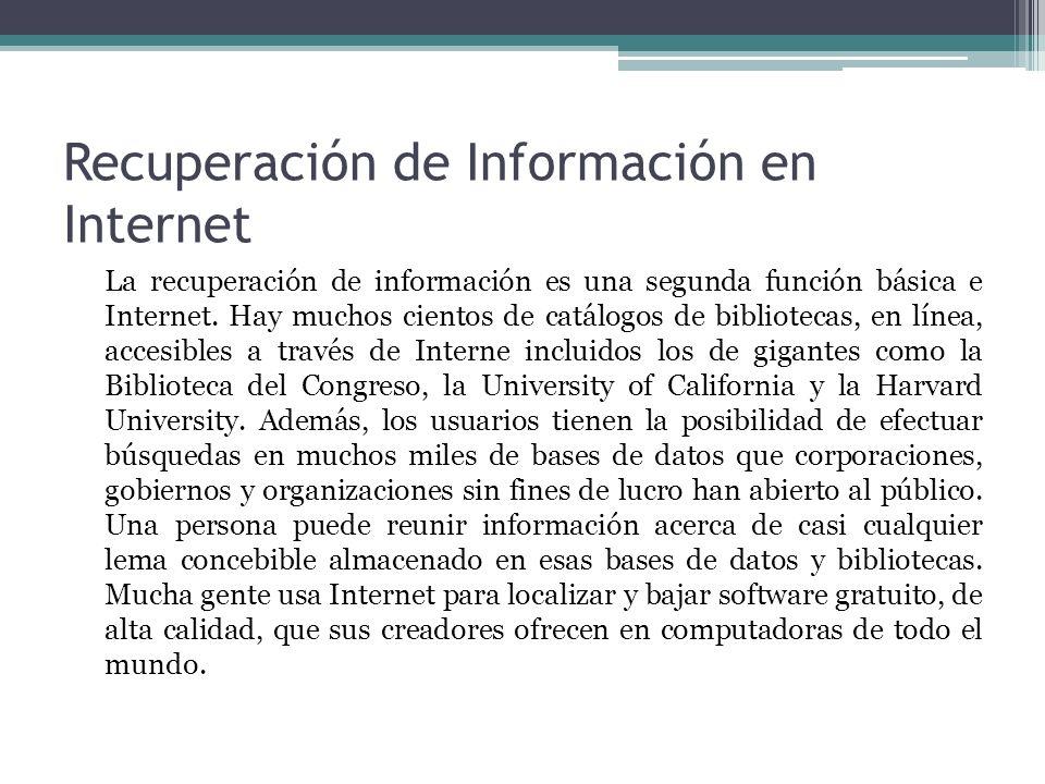 Recuperación de Información en Internet