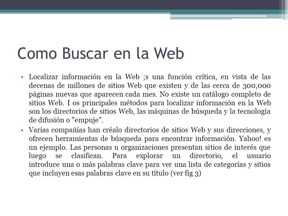 Como Buscar en la Web