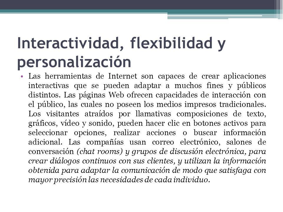 Interactividad, flexibilidad y personalización
