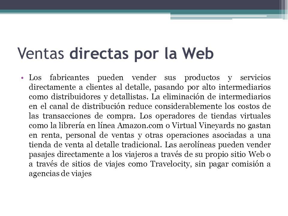 Ventas directas por la Web