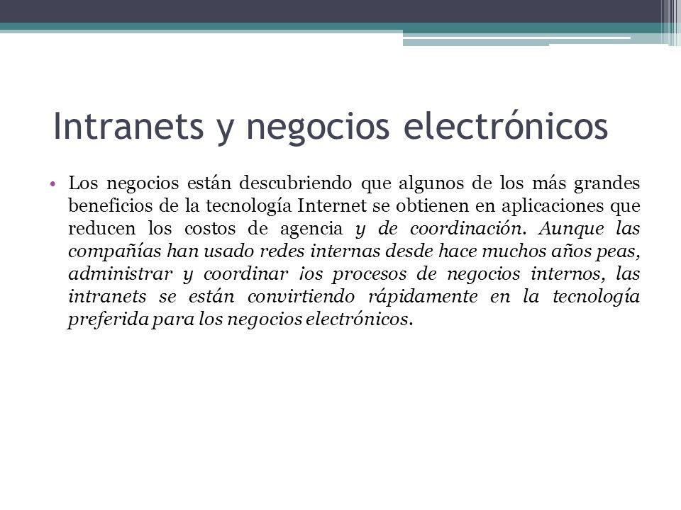 Intranets y negocios electrónicos