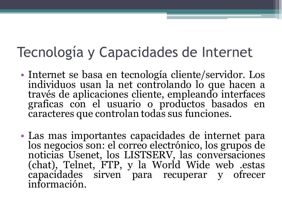 Tecnología y Capacidades de Internet