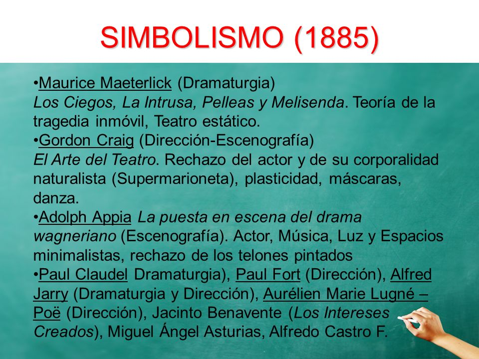 SIMBOLISMO (1885) Maurice Maeterlick (Dramaturgia)