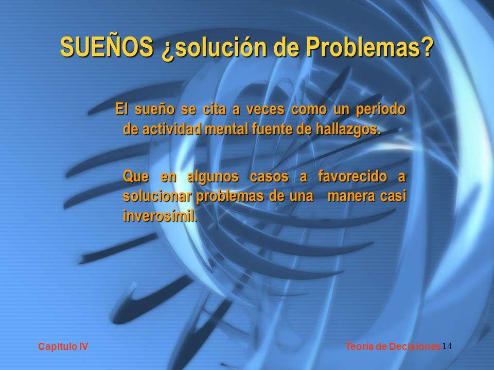 SUEÑOS ¿solución de Problemas