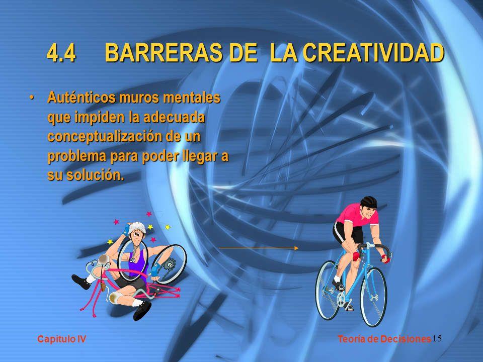 4.4 BARRERAS DE LA CREATIVIDAD