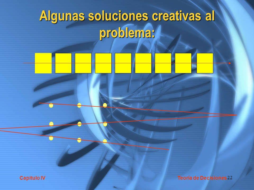 Algunas soluciones creativas al problema: