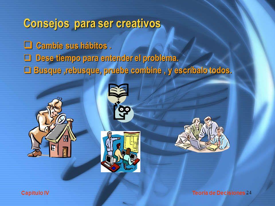 Consejos para ser creativos