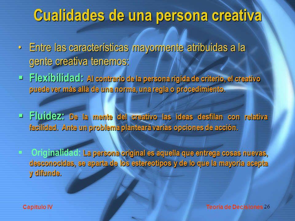 Cualidades de una persona creativa