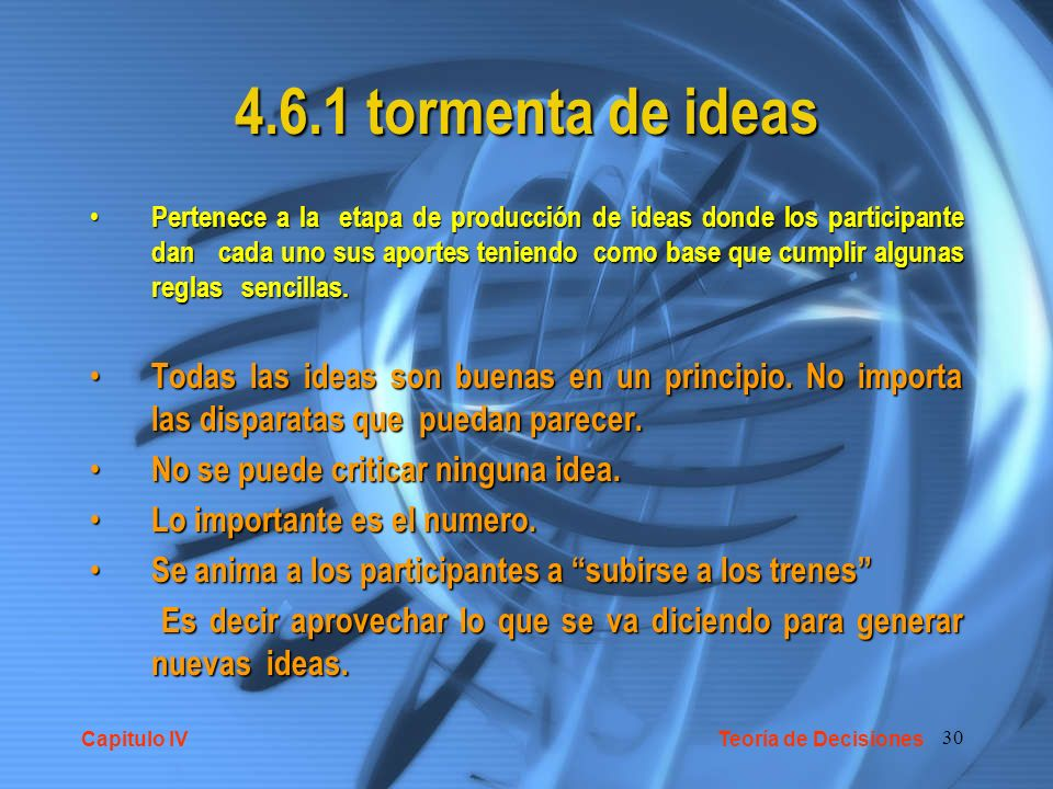 4.6.1 tormenta de ideas