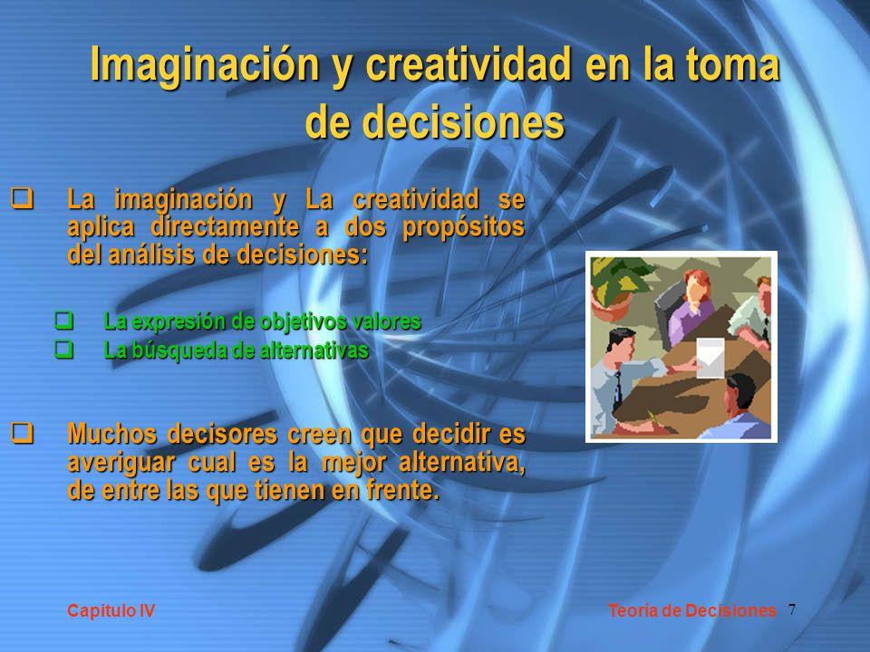 Imaginación y creatividad en la toma de decisiones
