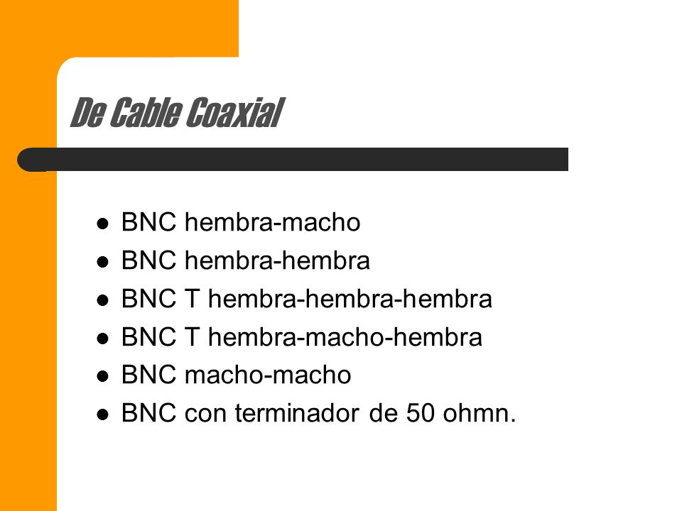De Cable Coaxial BNC hembra-macho BNC hembra-hembra